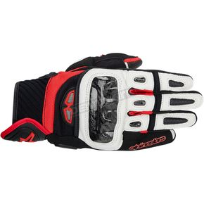 Alpinestars Black/White/Red GP-Air Leather Gloves  - 3567914-123-3X