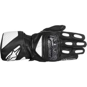 Alpinestars Black/White SP-2 Leather Gloves  - 3558214-12-3X