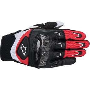 Alpinestars Red/Black SMX-2 Air Carbon Gloves  - 3567714-31-S