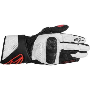 Alpinestars Womens Black/White/Red Stella SP-8 Gloves  - 3518313-123-XL