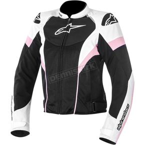 Alpinestars Womens Black/White/Pink Stella T-GP Plus R Air Jacket  - 3310614-130-XS