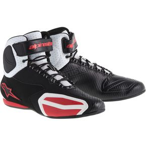 Alpinestars Black/White/Red Faster Vented Shoes  - 2510314123-6