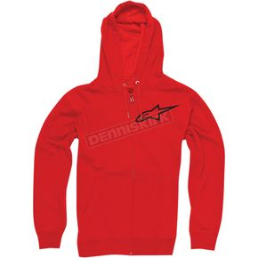 Alpinestars Red Ranking Zip Hoody - 1033530040302X