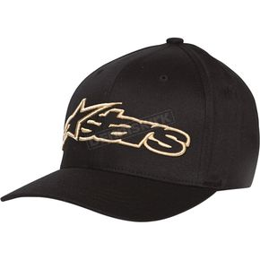 Alpinestars Black/Gold Blaze Flex-Fit Hat - 1039810051059LX