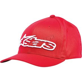 Alpinestars Red/White Blaze Flex-Fit Hat - 1039810053020SM