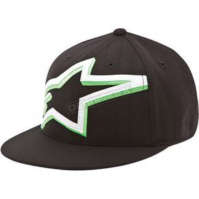 Alpinestars Black Mackey Flatbill Hat - 101482004198LX