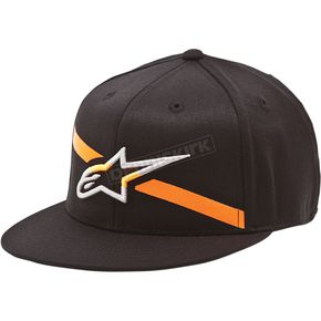 Alpinestars Black Campbell Flatbill Hat - 10148200210ASM