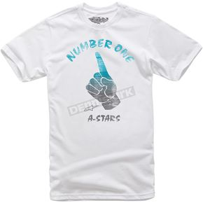 Alpinestars White Tha Finga T-Shirt  - 101476011020XL