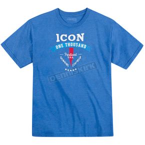 Icon 1000 Heather Blue Two Timer T-Shirt  - 3030-10563