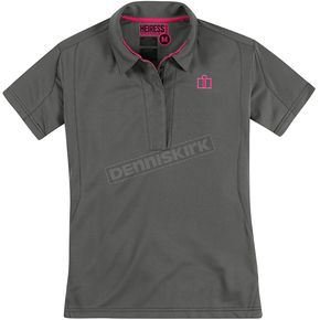 Icon Womens Charcoal Heiress Polo Shirt - 3041-0540