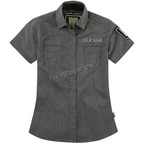 Icon Womens 1000 Charcoal Virture Shop Shirt  - 3041-0543