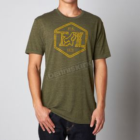 Fox Military Green Stern Style Premium T-Shirt - 09897-373-S
