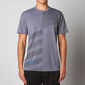 Fox Heather Graphite Border Time Tech T-Shirt - 09744-185-S