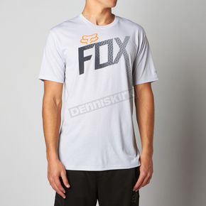 Fox Light Heather Gray Magnetic Mines Tech T-Shirt - 09749-416-S