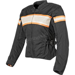 Speed and Strength Womens Black/Cream/Orange American Beauty Jacket - 87-7790