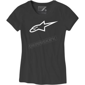Alpinestars Womens Black/White Ageless T-Shirt - 2003726771020M
