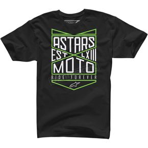 Alpinestars Black Ride Forever T-Shirt  - 100372711102X