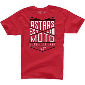 Alpinestars Red Ride Forever T-Shirt  - 100372711030L