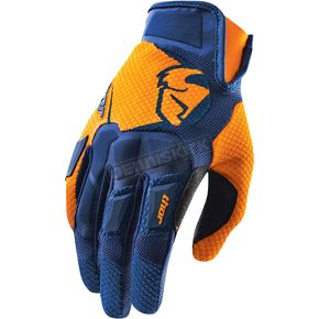 Thor Navy/Orange Flow Gloves - 3330-3073