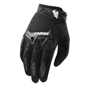 Thor Youth Black Spectrum Gloves - 3332-0895