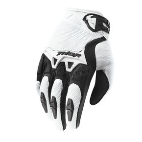 Thor Youth White Spectrum Gloves - 3332-0922
