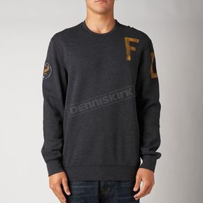 Fox Heather Black Smug Crew Sweatshirt - 10506-243-S