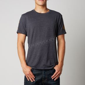 Fox Heather Black Blurred Premium T-Shirt - 10680-243-S