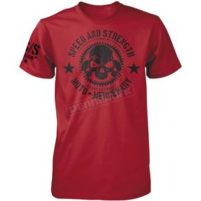 Speed and Strength Red Moto Mercenary T-Shirt - 87-6703