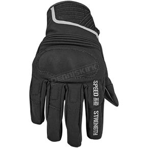 Speed and Strength Black Leather and Textile Speed Strong Gloves - 87-7587