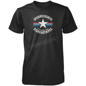 Speed and Strength Black Stars and Stripes T-shirt - 87-7655
