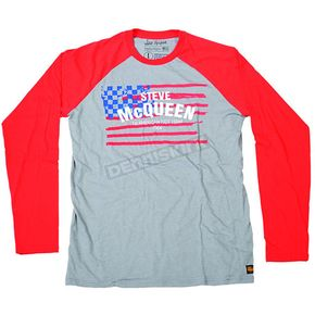 Troy Lee Designs Gray/Red McQueen Americana Long Sleeve T-Shirt - 2762-0910