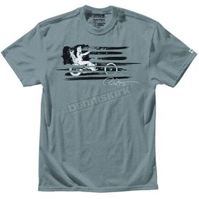 Troy Lee Designs Heather Gray Peter Fonda T-Shirt - 4020-0910