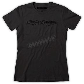 Troy Lee Designs Womens Black Signature T-Shirt - 6129-3201