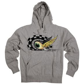 Troy Lee Designs Youth Heather Grey Baja Eyeball Pullover Hoody  - 6228-3906