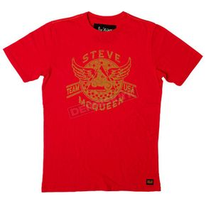 Troy Lee Designs Red Mcqueen Wings T-Shirt  - 6233-3408