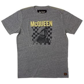 Troy Lee Designs Heather Grey Mcqueen Podium T-Shirt  - 6234-3908