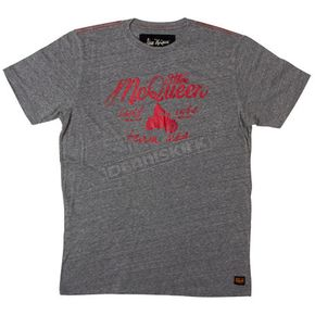 Troy Lee Designs Heather Grey Mcqueen Script T-shirt  - 6235-3909
