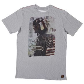 Troy Lee Designs Heather Grey Peter Fonda Classic T-Shirt  - 6236-3909