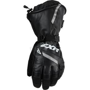 FXR Racing Black Leather Gauntlet Gloves - 15600.10016