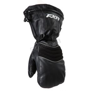 FXR Racing Black Leather Mitts - 15602.10019