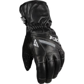 FXR Racing Black Leather Short Cuff Gloves - 15601.10013