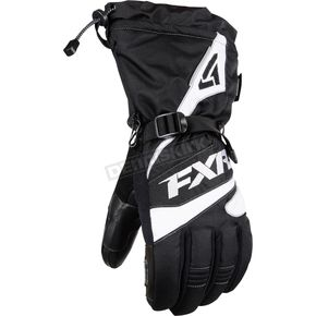 FXR Racing Black/White Fuel Gloves - 15606.10110