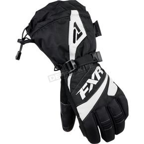 FXR Racing Womens Black/White Fusion Gloves - 15614.10110