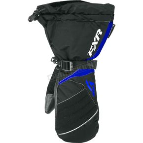 FXR Racing Womens Black/Blue Fusion Mitts - 15615.40116