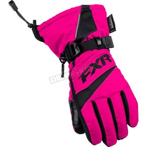 FXR Racing Childs Fuchsia Helix Race Gloves - 15619.90007