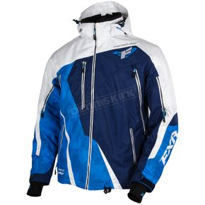 FXR Racing White/Navy/Blue Mission Lite Jacket - 15102.40019