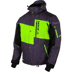FXR Racing Charcoal/Lime Squadron Jacket - 15107.70122