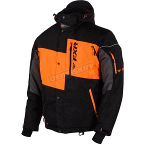 FXR Racing Black/Orange Squadron Jacket - 15107.30107