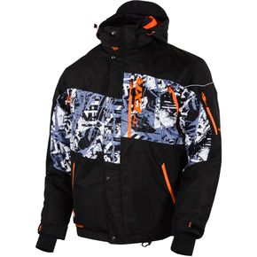 FXR Racing Black/Grey Sabotage Squadron Jacket - 15107.10110