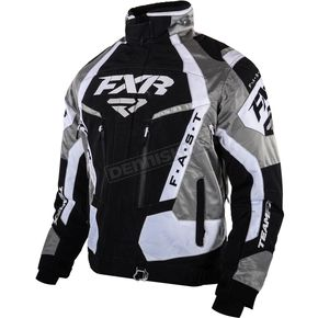 FXR Racing Black/White/Titanium Team FX Jacket - 15100.10110